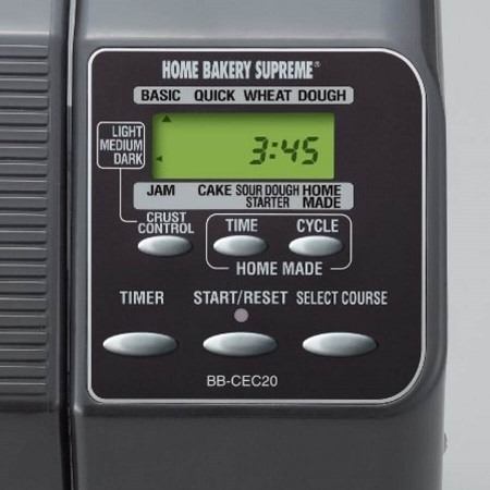 Zojirushi BB-PAC20 Bread Maker Control Panel