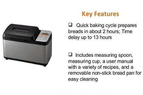 Zojirushi BB-PAC20 Bread Maker Features