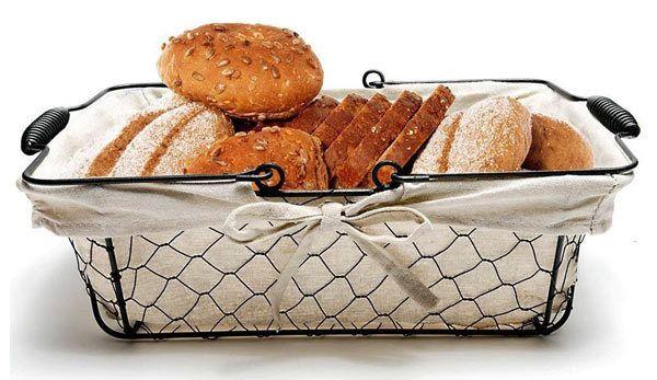 Mkono Bread Basket Metal Wire Basket