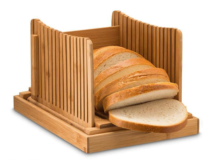 Bambusi Bread Slicer Cutting Guide - Bamboo Bread Cutter