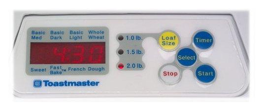 2-Pound Horizontal Bread Machine Features